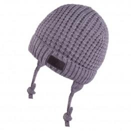 Set kapa+šal sivi