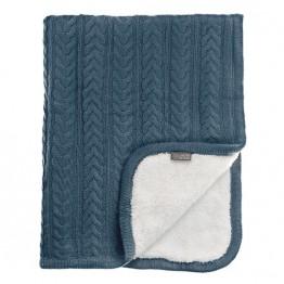 Vinter&Bloom deka Cuddly Storm Blue