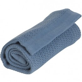 Vinter&Bloom denim plava deka Soft Grid Eko