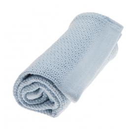 Vinter&Bloom plava deka Soft Grid Eko