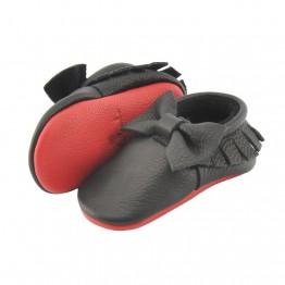 Cipele za bebe Little Lambo Bow Black/Red