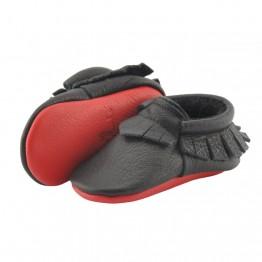 Cipele za bebe Little Lambo Fringe Black/Red